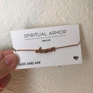 Alex and Ani 14kt Rose Gold Plated Amour Bracelet